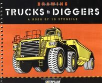 Drawing Trucks and Diggers: A Book of 10 Stencils [With Ten Different Stencils]