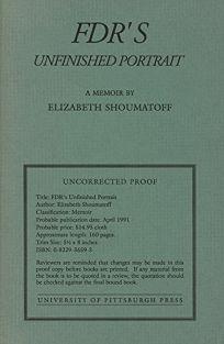 FDRs Unfinished Portrait: A Memoir