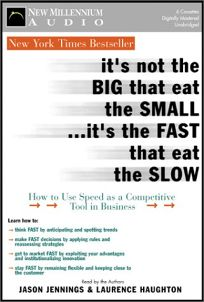 ITS NOT THE BIG THAT EAT THE SMALL... ITS THE FAST THAT EAT THE SLOW
