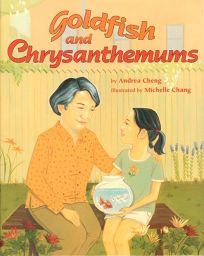 GOLDFISH AND CHRYSANTHEMUMS