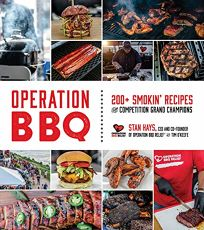 Lifestyle Book Review: Operation BBQ: 200 Smokin' Recipes from Competition Grand Champions by Stan Hays, with Tim O'Keefe. Page Street, $30 trade paper (352p) ISBN 978-1-62414-359-5