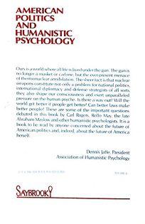 American Politics and Humanistic Psychology