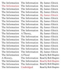 The Information: A History
