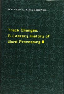 nonfiction book review track changes a literary history of word
